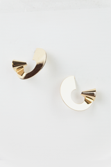 Spiral Gold Plated Earrings in Gold