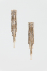 Everything i need crystal fringe earrings in Gold