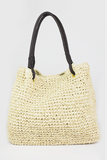 Twisted Handle Straw Bag - Natural