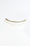 Snake Rope Double Choker in Gold
