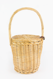 Burkin Small Handle Basket Bag in Natural