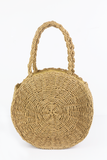 Circle Handle Basket Bag in Natural