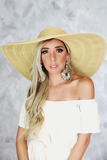 Large Floppy Brim Hat in Natural
