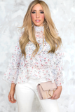 Ruffle Layered Floral Top in Multi