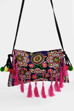 Deep Summer Embroidery Bag in Black/Multi