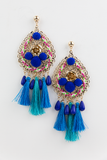 Something Good Tassel Earring in Blue