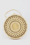 Circle Straw Basket Bag in Natural