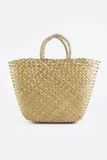 Medium Straw Handle Basket Bag in Natural