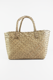 Medium Straw Basket Bag in Tan