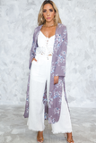 Forever Lost Floral Kimono in Dusty Purple