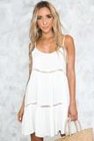 Can't Buy Love Slip Dress in White