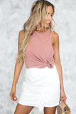 I'll Find You Ribbed Stretch Tank in Blush
