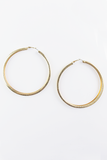 Endless love hoop earrings in Gold