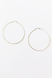 With You Hoop Earrings in Gold