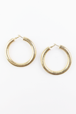 Ready For Your Love Large Hoop Earrings in Gold