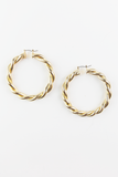 Wild Fire Twisted Hoop Earrings in Gold