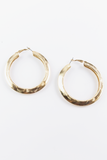 Get a Feeling Hoop Earrings in Gold