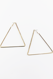 Walking On The Sun Triangle Earrings in Gold