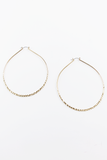 Not So Predictable Large Hoop Earrings in Gold