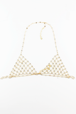 Hear You Say Metal Chain Bralette in Gold
