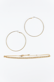 So cool hoop combo set in Gold