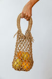 Small Straw Mesh Bag