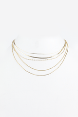 All of Me Petite Layered Choker in Gold