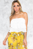 So Good Ruffle Tiered Top in White