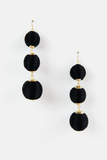 Can't Hide Statement Earring in Black