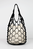 Marked Mesh Bag in Black/Tan