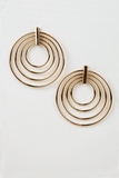 Give it some time gold circle earrings in Gold