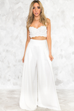 Stay a While Wide Leg Pant in White