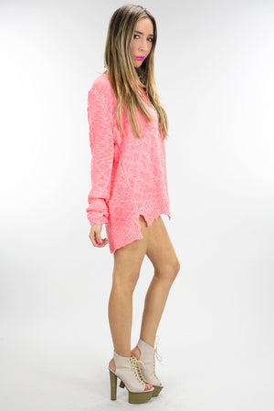 OPEN BACK LONG SLEEVE SWEATER - Haute & Rebellious
