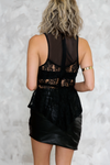 Lace Peplum Sleeveless Top - Haute & Rebellious