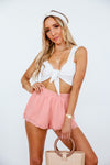 Chiffon Shorts with Ruffles - Blush /// Only 1-S Left ///