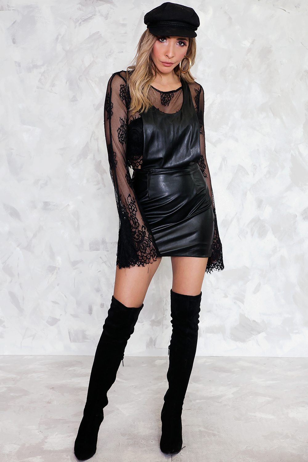 Vegan Leather Dress /// Only 1-S Left ///