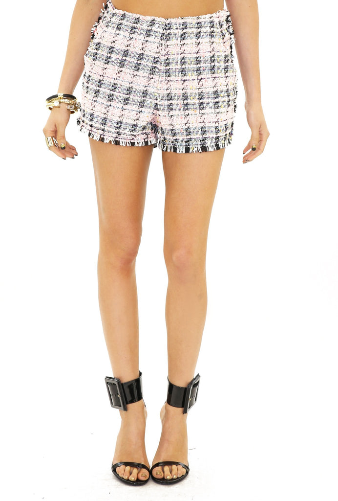 COCO PLAID TWEED SHORTS