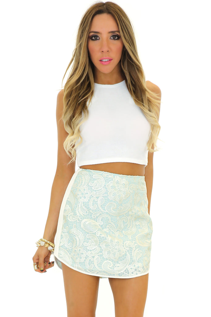 VICTORIA LACE DETAIL SKIRT
