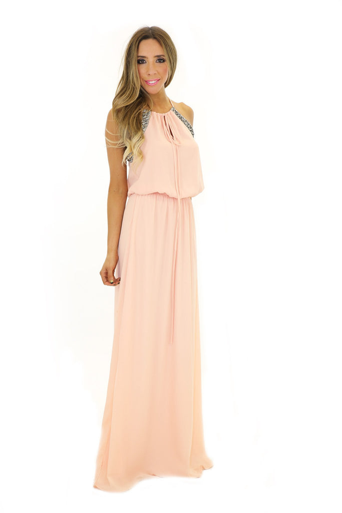 BRIANA EMBELLISHED MAXI DRESS