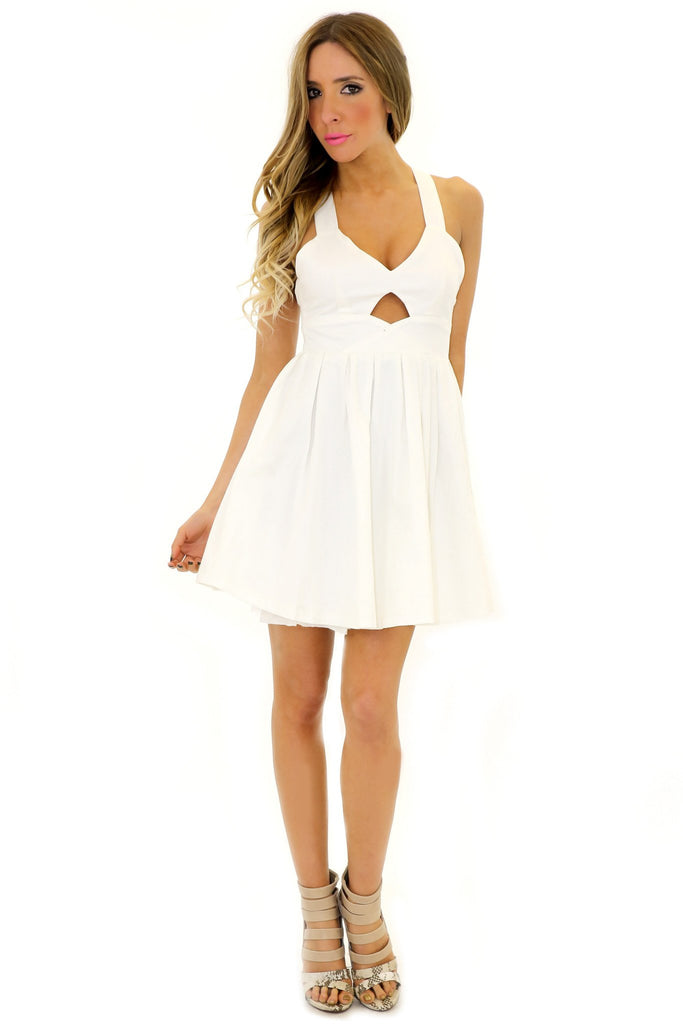 HELENA CUTOUT BABYDOLL DRESS  - White - Haute & Rebellious