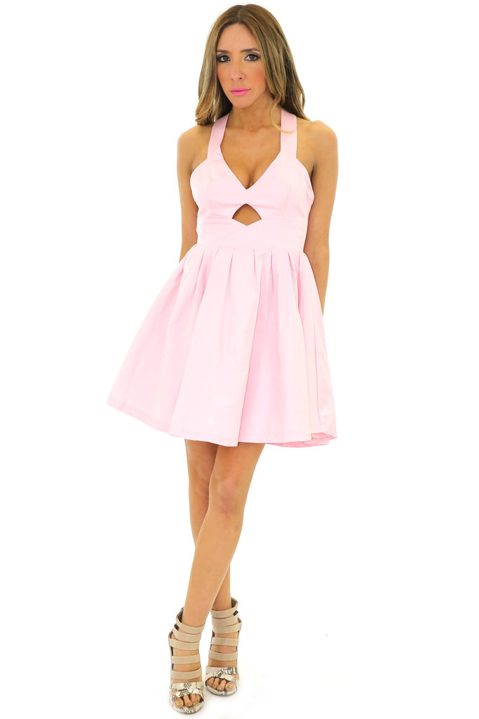 HELENA CUTOUT BABYDOLL DRESS  - Rose - Haute & Rebellious