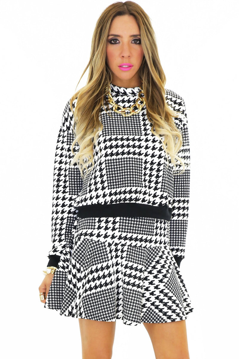 NEMON HOUNDSTOOTH SWEATSHIRT - Haute & Rebellious