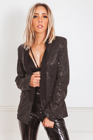 Gold Studded Blazer