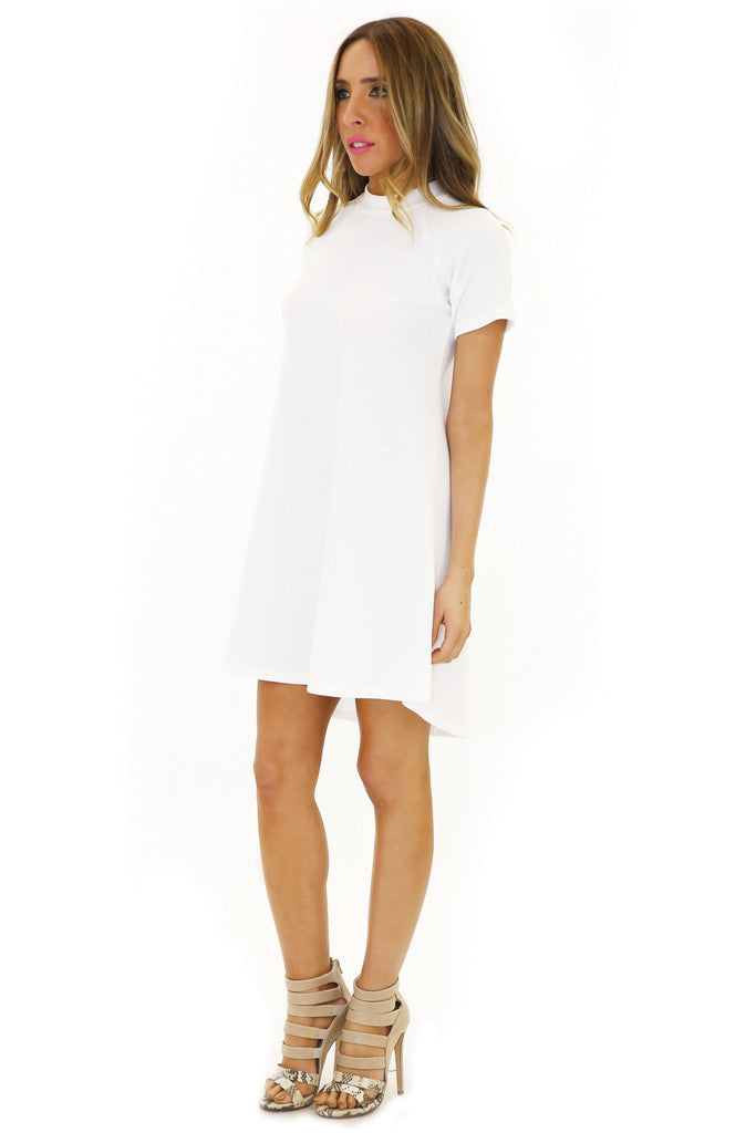 ALANA SHORT SLEEVE DRESS - White