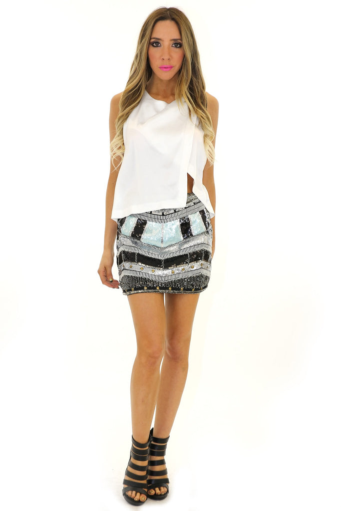 BRENNON CROP TOP - White - Haute & Rebellious
