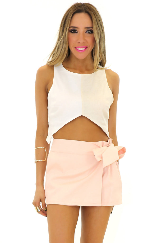 BECKETT CROP TOP - White