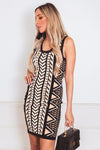 Tribal Knit Body-Con Mini Dress