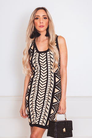 Knit Body-Con Mini Dress