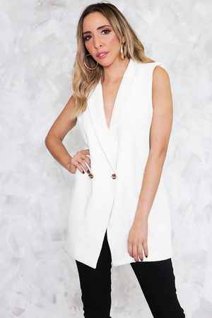 Double Breasted Blazer Vest