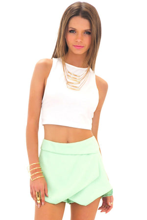 HALLIE ASYMMETRICAL SKORT - MINT - Haute & Rebellious